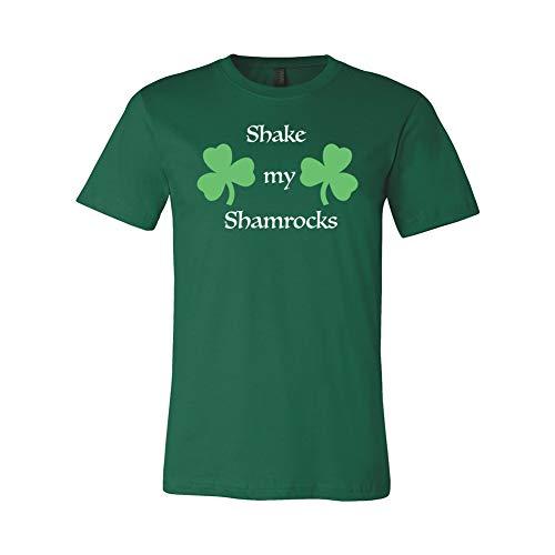 Costume Agent St Patrick's Day Irish Shake My Shamrock Adult Green T-Shirt