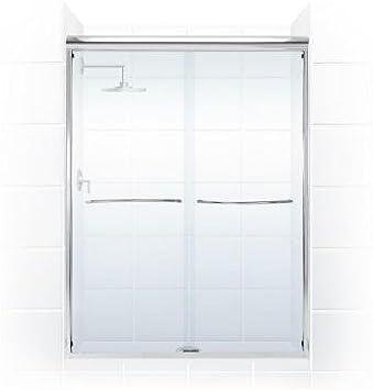 Paragon 3/8 Serie 60 in. x 76 en. Sin marco deslizante para mampara de ducha con Radio curvado toallero de barra en cromo y cristal transparente: Amazon.es: Bricolaje y herramientas