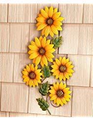Metal Flower Wall Hanging Sunflower