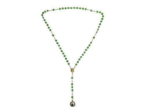 Light Green Saint Jude Rosary with Round Medal Rosario De San Judas Tadeo Con Medalla