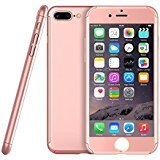 iphone 7 Plus Case,Full Coverage 3D Protection Case, Ultra Thin Hybrid Case Cover with Tempered Glass Screen Protector for iphone 7 Plus (5.5 inch) Egrace (Rose-Gold)