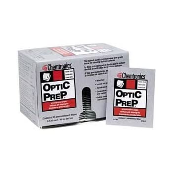 Chemtronics Optic Prep Saturated Lens Grade Wipes - 50 packs/box