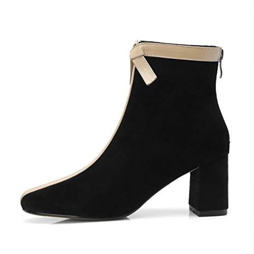 H New Career Slim Wild Shoes Suede 34 amp; Y Stylish Party Thick A Martins Ladies Women's Booties 2018 Heel Leather Office Boots Evening amp; Boots Ankle nIRZdq