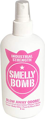 WOW PRODUCTS SMELLYBOMB 8oz Spray Bottle, Industrial Strength Odor Eliminator, Unscented (2-Pack)