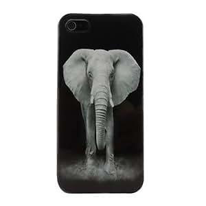 JJE A Mighty Elephant Pattern PC Back Case for iPhone 5