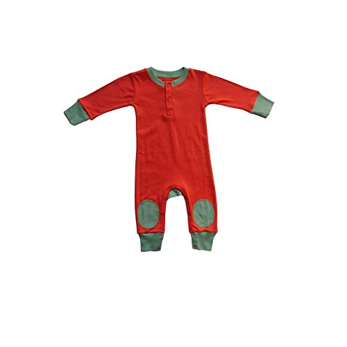 Cat & Dogma - Certified Organic Infant/Baby Clothes Coral/Mint Playsuit (12-18 Months) (Lord Of The Rings Shoes)