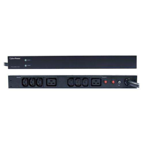CyberPower PDU30BHVT8R 8-Outlets Rack Mount 1U L6-30P 200/230 30A Basic Power Distribution Unit