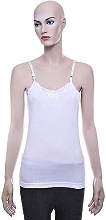 Mariposa Big Lace Camisole - L, White