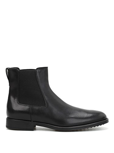 Uomo Tod's Leather Nero Booties Leather Uomo Tod's Booties Nero 8ax8qU7B