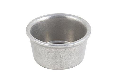 Bon Chef 9025PG Aluminum/Pewter Glo Ramekin, 5 oz Capacity, 3-1/2 Diameter (Pack of (Chefs Ramekins)