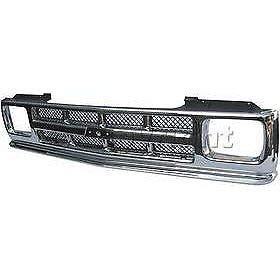 Grille For 91-93 Chevrolet S10 91-94 S10 Blazer Silver Plastic
