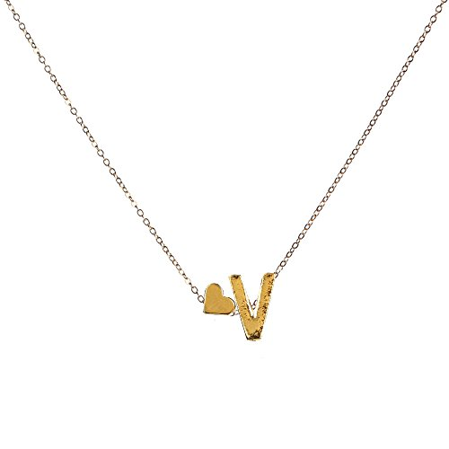 Gbell Fashion Girls Women A-Z Letters Necklaces Charms,