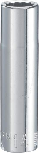 CRAFTSMAN Deep Socket, Metric, 1/2-Inch Drive, 14mm, 12-Point (CMMT44444)