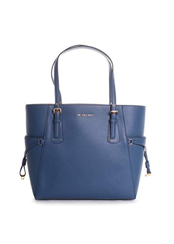 Michael Kors Voyager East West Leather Tote Handbag in Dark Chambray by Michael Kors (Image #4)