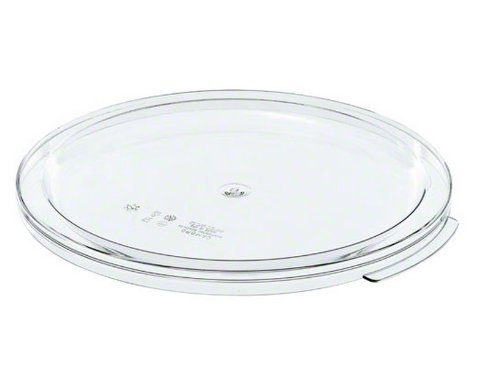 Cambro RFSCWC12 Camwear Clear Polycarbonate Round Lid for 12 qt, 18 qt and 22 qt Capacity Food Storage Container