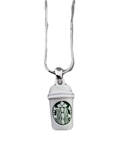 Accessory Silver - Plated Coffee Cup Pendant Necklace