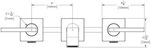 Speakman SB-2551-BBZ Lura Wall Mounted Faucet Brushed Bronze
