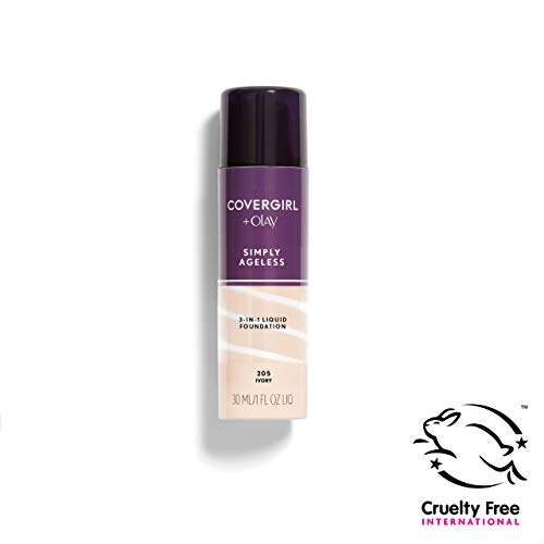 COVERGIRL Simply Ageless 3-in-1 Liquid Foundation, Ivory 205, 1 oz (Packaging May Vary)