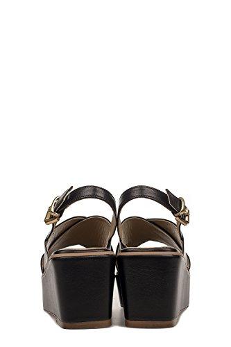 MILLY365NERO Cuir Femme RUSCONI Noir FABIO Compensées Chaussures ESUqO4n