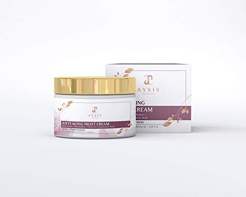 AYSIS essentials Anti Aging Night Cream with No Parabens & Mineral Oil Night Cream, 50gm 2021 July Totally free of harmful sulphates, parabens, peg, propylene glycol or mineral oils Matrixyl anti aging skin care products work by stimulating collagen synthesis which is needed in order to reduce wrinkles and fine lines, especially on the facial area. Consumers will be interested in knowing that studies have shown noticeable improvement within two months of use, infused with aloe leaf juice, shea butter, olive oil and hyaluronic acid for complete anti aging care Suits and benefits all skin types