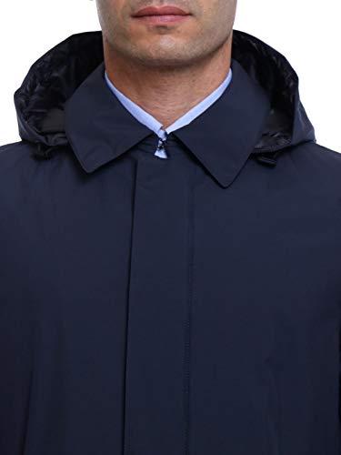 11121 Hombre Pi001ul Herno Azul Abrigo OWq6ZAqwX