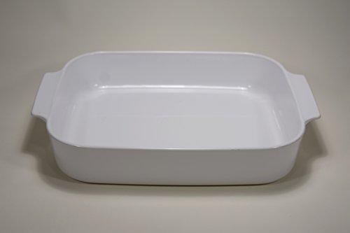 Vtg Corning Ware (A-21-B-N) White Casserole Lasagna Baking Roasting Pan Dish (12.5 inch X 10.5 inch X 2.5 inch)