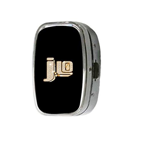 Turekk Custom Jennifer Lopez JLO Logo Personality Style Sliver Stainless Steel Square Pill Box Pill Case Vitamins - Jennifer Lopez Styles