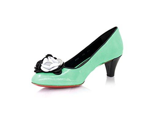 Pumps Roter Green MIT 7 Diamond 5cm WoMen Heels Mintfarben Pump UK Ledersohle Lackleder und Size Absatz qgzwtAwf
