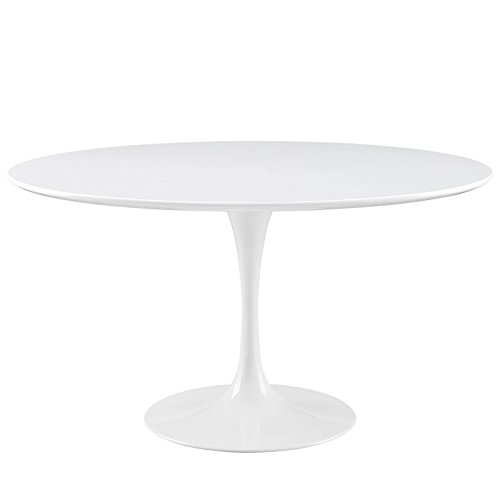 Modway Lippa 54 Round Dining Table in White