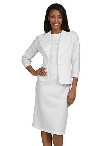 - Med Couture Women's Peaches Esther Dress, White, 18