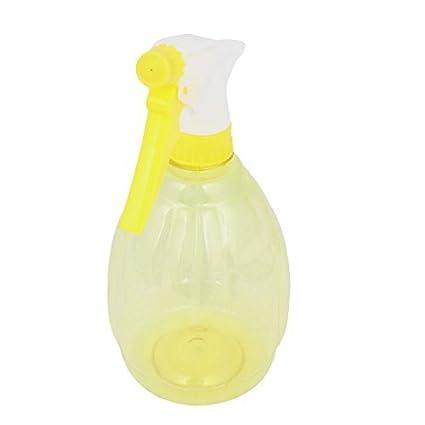 eDealMax Plástica del disparador de peluquería Planta de riego de la Botella del aerosol Amarillo claro