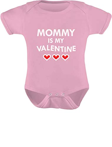 TeeStars - Mommy is My Valentine Infant Baby Bodysuit 18M Pink