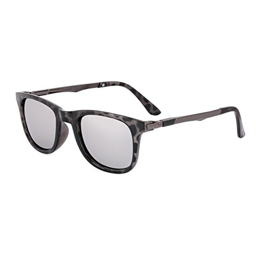 Royal Son UV Protected Wayfarer Sunglasses For Men and Women (WHAT4330|51|Silver Mirrored Lens)