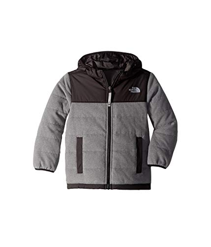 Boys Mcmurdo Down Parka - The North Face Boy's Reversible True False Jacket - TNF Medium Grey Heather & Graphite Grey - XL