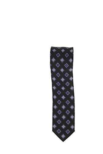 Olymp Seiden Krawatte 6 cm breit Businesskrawatte fleckabweisend durch Nano-Technologie Muster Viola