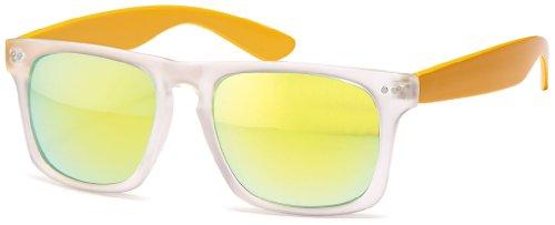 net blancs millésime reflète Chic points transparents Nerd 400 wayfarer UV yellow des lunettes soleil des de dqFxTqw