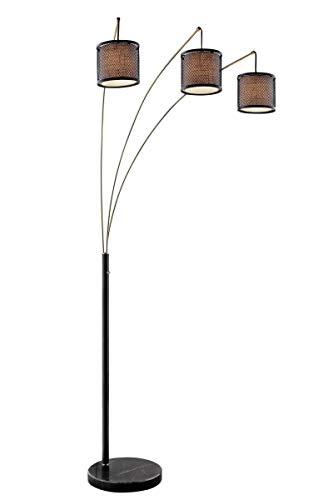 - Lite Source Elena Coffee 3-Light Arc Floor Lamp
