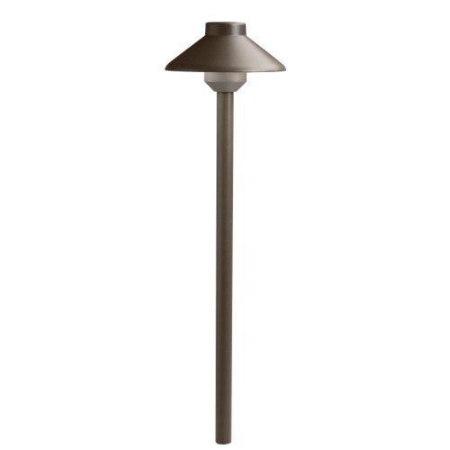 Kichler Lighting 15821AZT27 Llenita 4W 2700K Design Pro LED 12V Path & Spread Landscape Fixture, Textured Architectural Bronze Finish by Kichler (Spread Landscape Fixture)