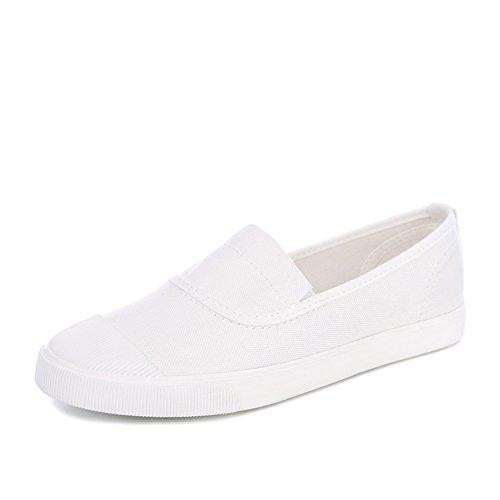 Respirable para ayudar a la gente perezosa en primavera, verano, zapatos mujer/Alpargatas de Shell-dedo del pie A