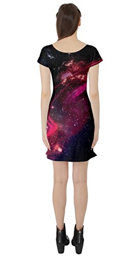 Short Pink Science River Dress CowCow Rocket Sleeve Moon Sun XS 5XL Star Morty Space Rick Womens Planet wYFqa6zxY
