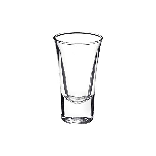 Bormioli Rocco Dublino Collection Shot Glasses - Set of 6 Clear Shot Tumblers With Heavy Base - 2-Ounce Shooter Glass For Spirits & Liquors - Classic European Design Drinkware For Bar, Pub & Home Use