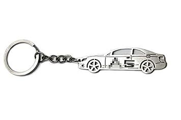 Llavero con anillo para Audi A5 acero inoxidable clave ...