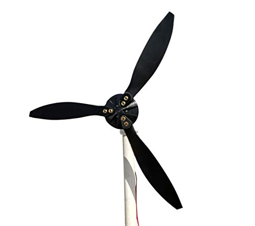 Cutting Edge Power Mini 12 Volt Wind Turbine Generator, Portable, w/Accessories,Small, Made in USA (Pipe/Tube Mount, 3 Blade (18'')) by Cutting Edge Power (Image #1)