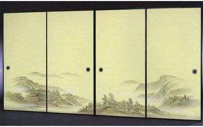 太陽 襖紙 4枚組 4枚柄織物高級 ふすま紙 P-1606