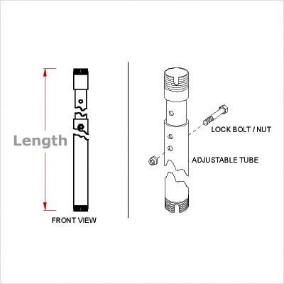6' Adjustable Extension Column - 8