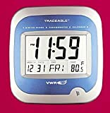 VWR CLOCK TRACEABLE DGTL JUMBO - VWR Calendar/Thermometer Wall Clock - Model 62379-519 - Each