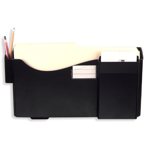 - Officemate Grande Central Filing System, Starter Pocket with Pen, Pencil Holder and Envelope/Post Card Slot, Black (21720)