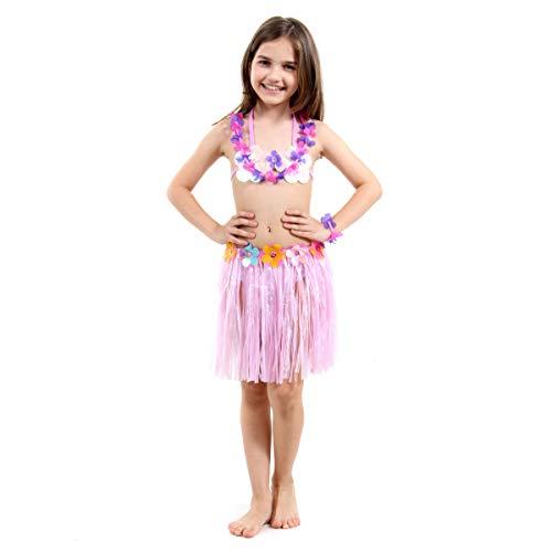 Fantasia Havaiana Infantil 23761-M Sulamericana Fantasias Roxo/Lilás M 6/8 Anos