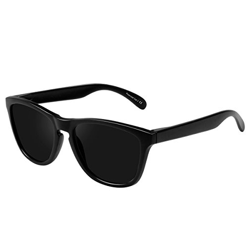 FEIDU Cocoons Fitovers Polarized Sunglasses Aviator (XL) Black1