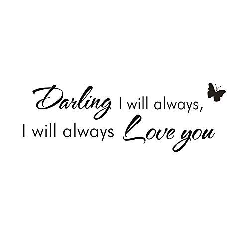 OTTATAT Wall Stickers for Girls 2019,I Will Always Love You Removable Mural Wall Stickers Wall Decal Room Home Decor Easy to Stick Lingerie Party, Club Gift for Bride On Sale